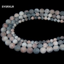 Wholesale Dull Polish Matte Pink Zebra Natural Stone Round Beads For Jewelry Making Charm DIY Bracelet Necklace 6/8/10 MM Strand