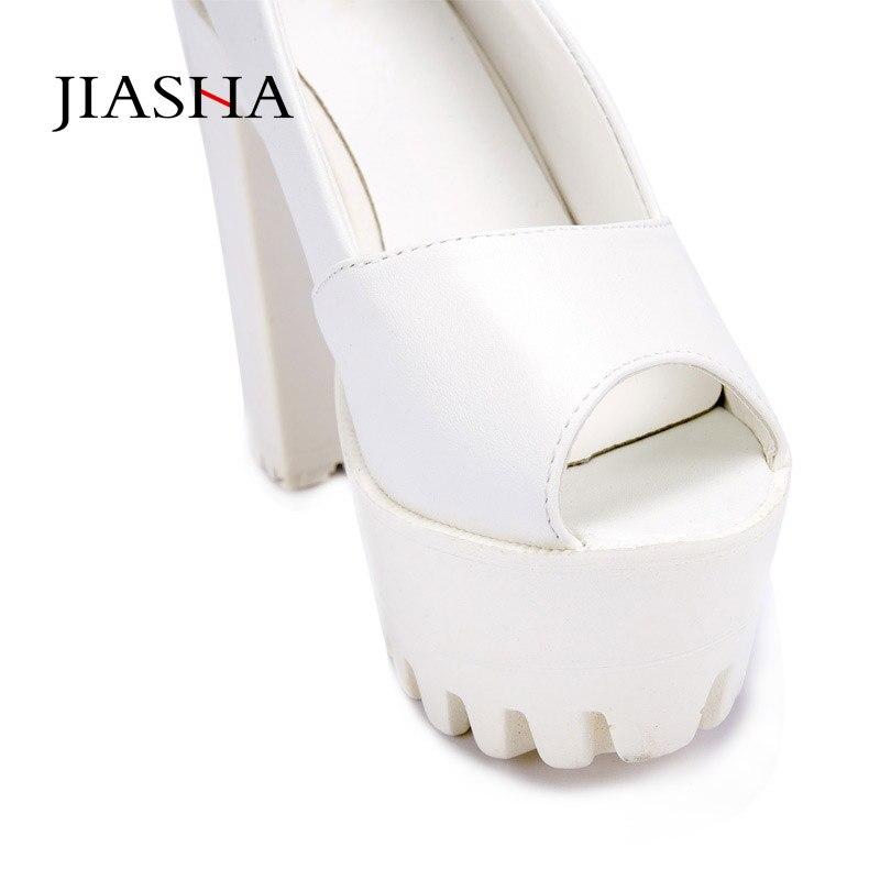 Shoes woman sandal 2018 fashion solid color sexy PU peep toe High heel platform summer shoes sandals women shoes