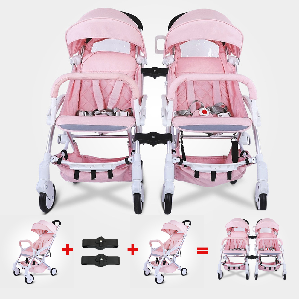 baby throne chair covers ivory wedding twins stroller fold light detachable double pram two seat newborns carriage babyhit wheelchair 0 to 4 year in mutiple from