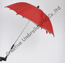 Baby stroller steering umbrella,kid car umbrella 8mm steel shaft and fiberglass ribs,detachable clamp,Environmental protection