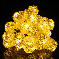 New 30 PCS Yellow LED Window Curtain Lights String Lamp House Party Decor Striking Christmas Home