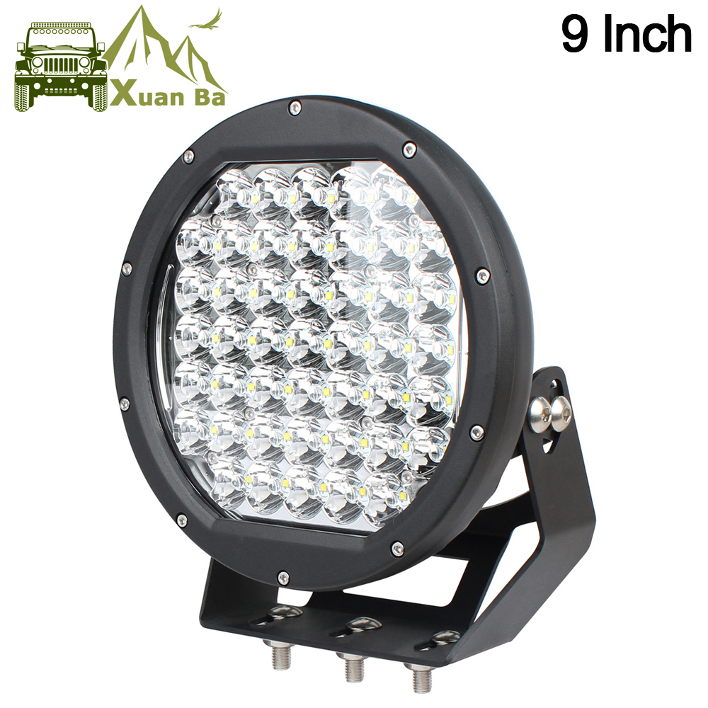 Xuanba 9 Inch 225W Offroad LED Driving Work Light For 12V 24V Trucks Trailers Atv 4WD