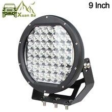 Xuanba Luz LED de 9 pulgadas y 225W para conducción fuera de carretera luces externas para coche, 12V, 24V, camiones, remolques, Atv, 4WD, 4x4