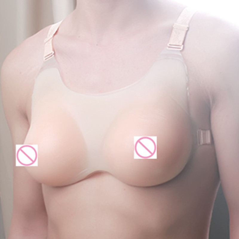 ФОТО Hot sale,A new silicone breast B/C CUP(800g) Fake Breast for Crossdresser fake silicone breast bra soft sexy 800g