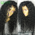 150 density Malaysian Curly Wig Bouncy Curly Thick Human Hair Full Lace Wig Cheap Glueless Lace Front Malaysian Virgin Hair Wig