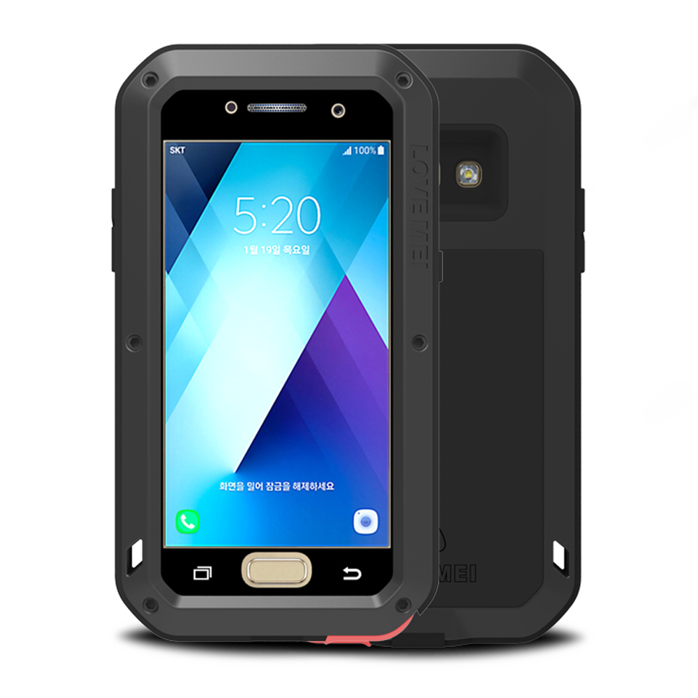 SFor Samsung Galaxy A5 2017 Fall Gorilla Glas Metall Aluminium Rüstung für Fall Samsung A5 2017 Für Fall Samsung Galaxy A5 2017