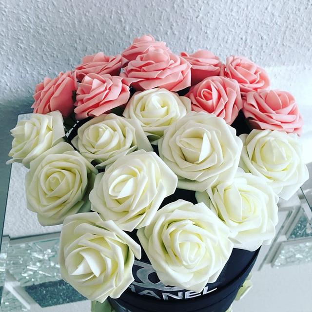 10 Pieces / Pack 8CM Home Decorative Flowers 11 Colors PE Foam ...
