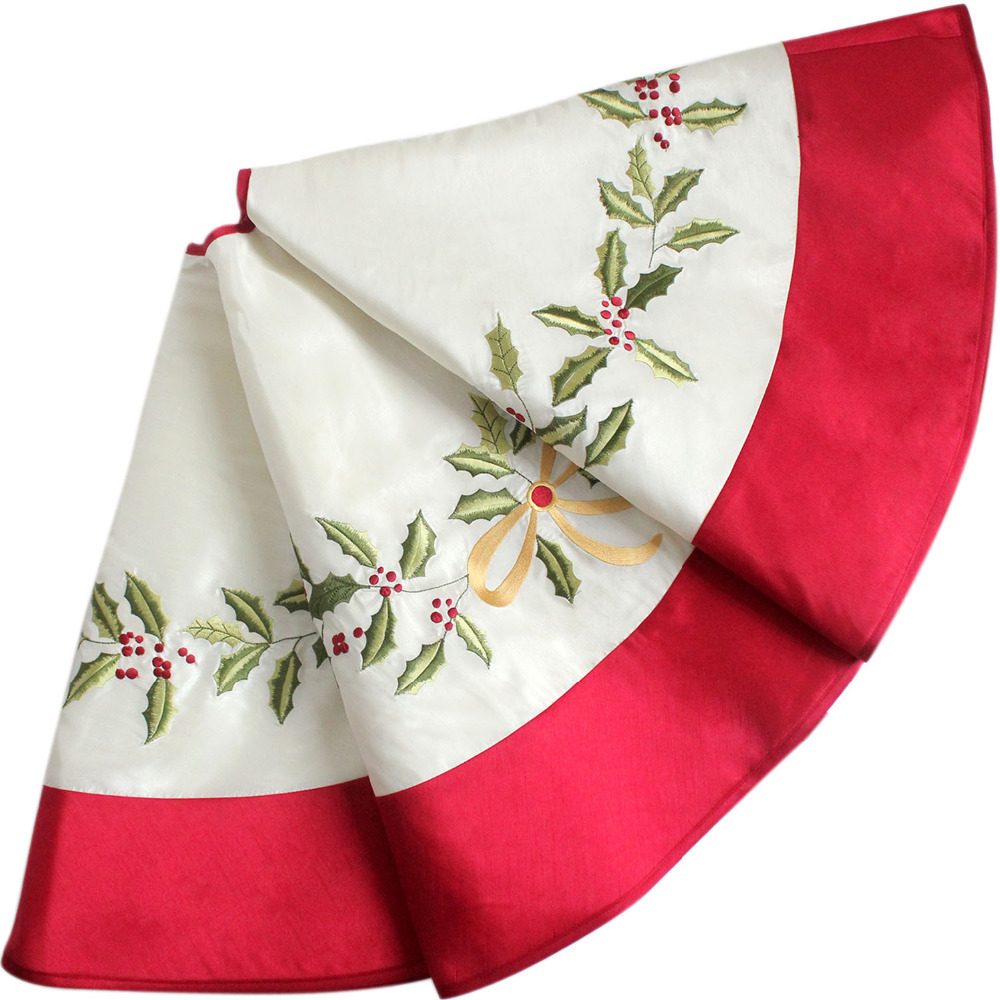 White Faux Silk Holly Leaves