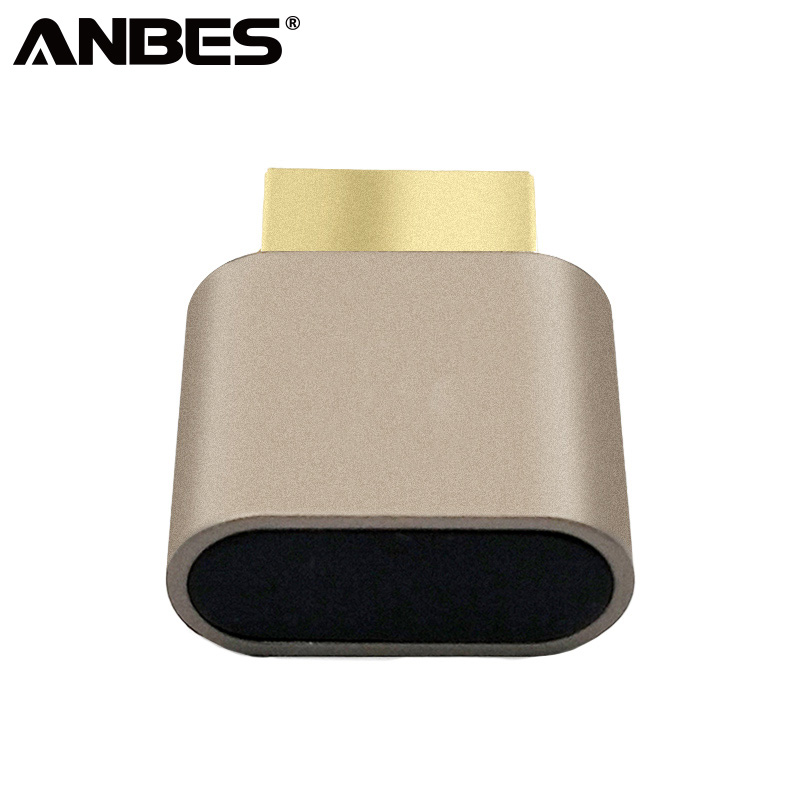 ANBES VGA Virtual Display Adapter HDMI DDC EDID Dummy Plug Headless Display Emulator Lock plate 1920x1080 New generation@60Hz