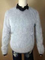 New genuine mink cashmere sweater men pure 100% cashmere sweater pullovers mink sweater free shipping Wholesale price