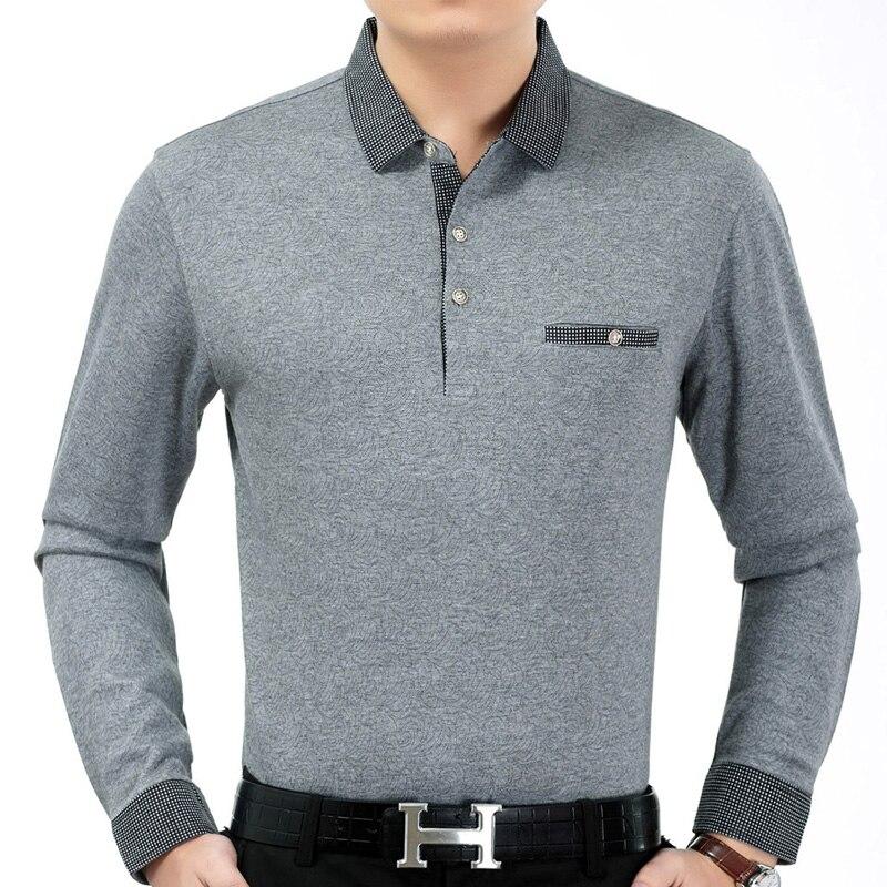 2018 long sleeve striped polo shirt men cotton streetwear ...   Men Polo Long Sleeve Dress