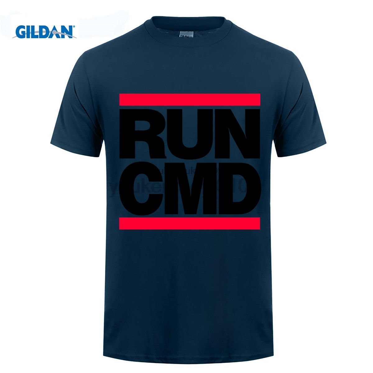 GILDAN Cool T Shirts Crew Neck Short-Sleeve Printing Runinger Cmd Web Developer Pc Gamer Geek Shirt