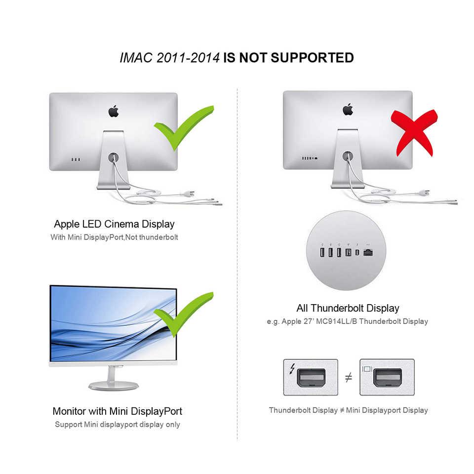 QGeeM HDMI naar Mini DisplayPort Converter Adapter Kabel 4K x 2K HDMI naar Mini DP Adapter voor HDMI uitgerust Systemen Mini DP naar HDMI