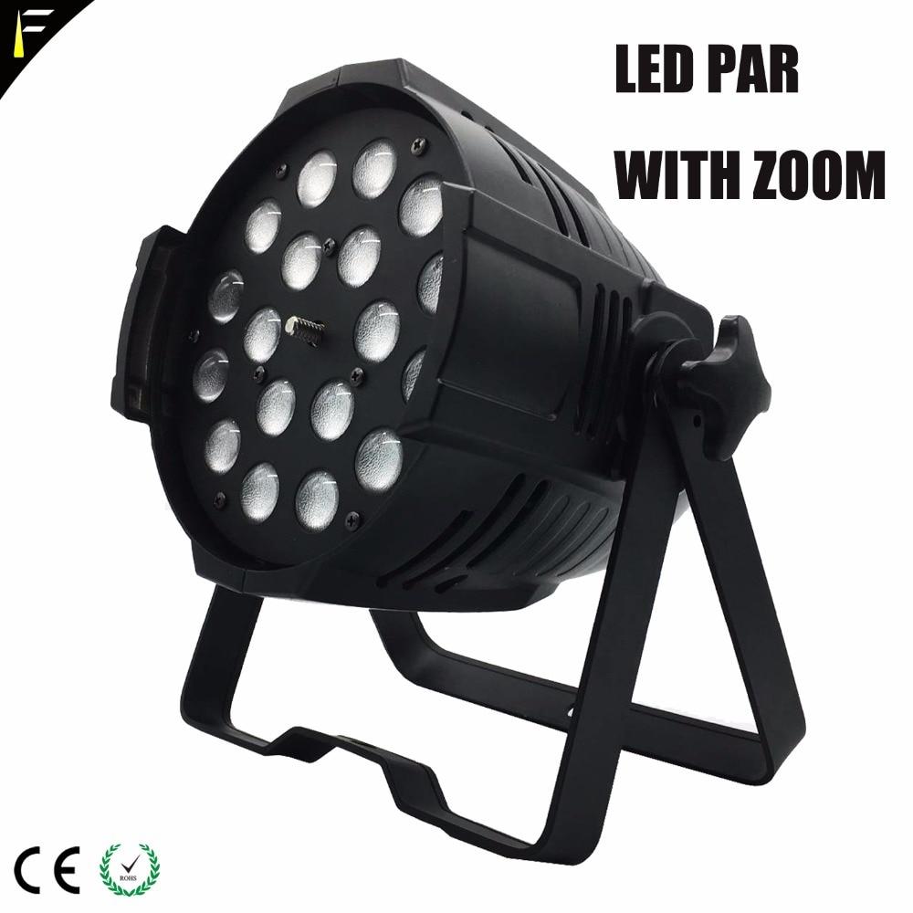 Studio PAR 18x18w LED RGBW Zoom PAR Can Up Down Stage Flood Light For Dj Disco Party KTV Show Bar