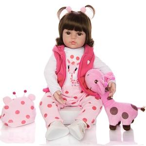 Image 3 - KEIUMI 뜨거운 판매 다시 태어난 아기 인형 장난감 천 몸은 기린 유아 생일 크리스마스 선물로 현실적인 아기 인형을 박제