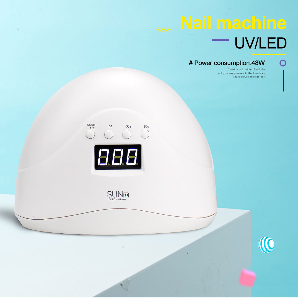 New <font><b>SUN1S</b></font> 24W/48W UV Lamp Nail Lamp For Gel Dryer 24 LEDs nails machine LCD Display Auto-Induction Nail Tool image