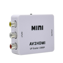 Лидер продаж белый RCA аудио-видео HDMI CVBS, чтобы адаптер HDMI HD 720 P 1080 P AV к HDMI MINI AV2HDMI видео конвертер