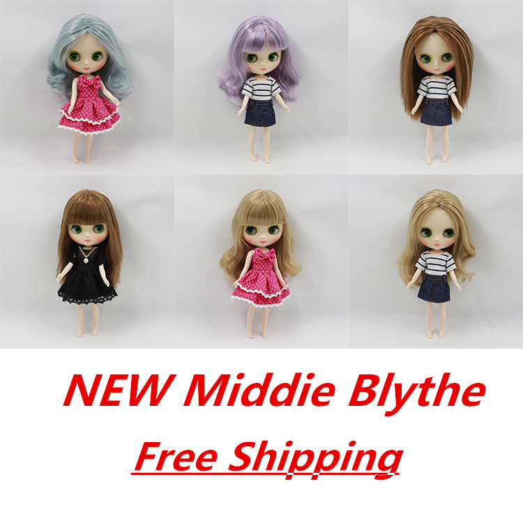Free shipping Nude Middie blyth Doll Toy Gift, 1/8 doll(20cm), icy цена и фото