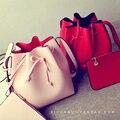Preto vermelho Rosa 2017 Bbag Moda Cordão Balde Saco Saco Do Mensageiro Ocasional Pequenos Sacos Das Senhoras Ombro Crossbody Bag Bolsas