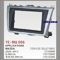 Liislee 2 DIN Car Refitting Frame Panel For Mazda 6 , Atenza Radio Stereo CD DVD Player NAVI Navigation / Dashboard Fascia Kits