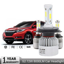 2Pcs H7 LED Turbo H4 Car Headlight Bulb COB H11/H8/H9 H1 H3 9005/HB3 9006/HB4 Hir2 H27 8000LM 6500K 12V 24V Auto Voiture(China)