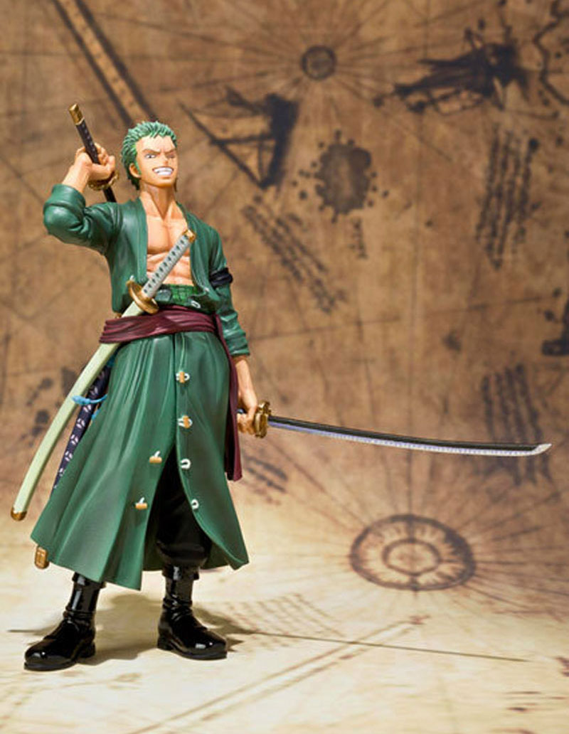 Hot Figuarts Zero For the New World Japanese Anime One Piece Figures Roronoa Zoro Action Figure Figurine Collectible