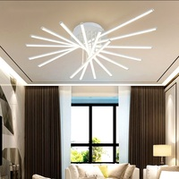 Арт деко светодиодный потолочный светильник для гостиной, спальни, кабинета, ресторана, световые потолочные светильники, осветительный при