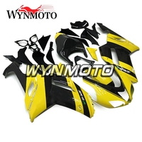 Full ABS Plastic Injection Yellow Black Strip New Motorcycle Fairings For Kawasaki ZX 6R 636 Year 07 08 2007 2008 Cowlings