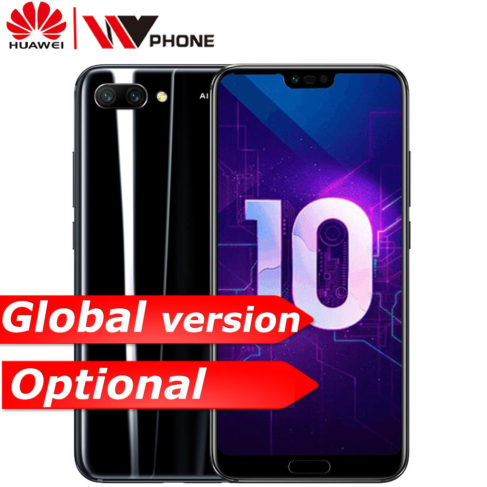 huawei Honor 10 mobile phone honor10 19:9 Full Screen 5.84 inch AI Camera Octa Core Fingerprint ID NFC android 8.1