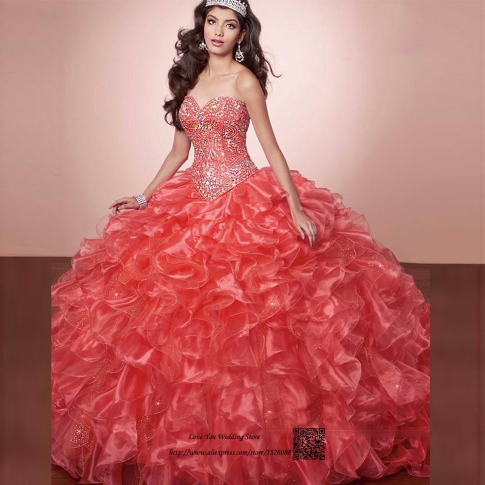 Dulces 16 Vestidos vestidos de Membrillo 15 anos Debutante Vestido ...