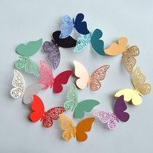 12 шт полый 3D стикер на стену с бабочкой для свадебного украшения дома бабочки на стену комнаты декор многоцветные наклейки