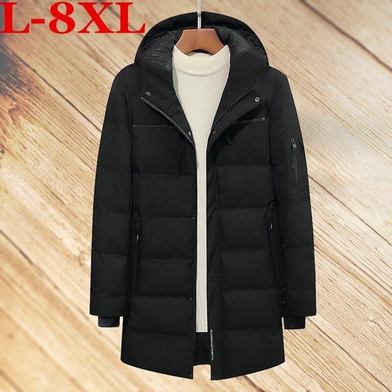 100% Kwaliteit Plus Size 8xl 7xl 6xl 5xl Winter Nieuwe Lange Sectie Parka Voor Jasje Merk Casual Mannen Warme Katoen- Gewatteerde Kleding Jas Matching In Kleur