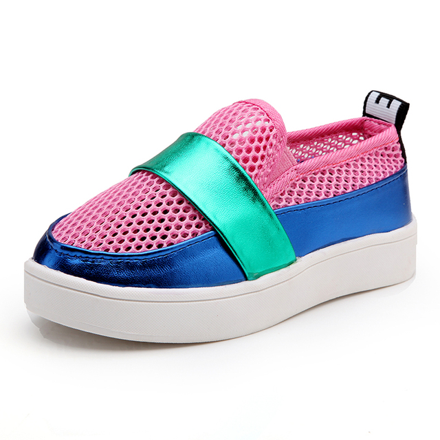 Air Mesh Children Girls Summer Shoes 2017  Slip on Children Casual Shoes Breathable Mesh Kids Loafers Children's Flats Shoes