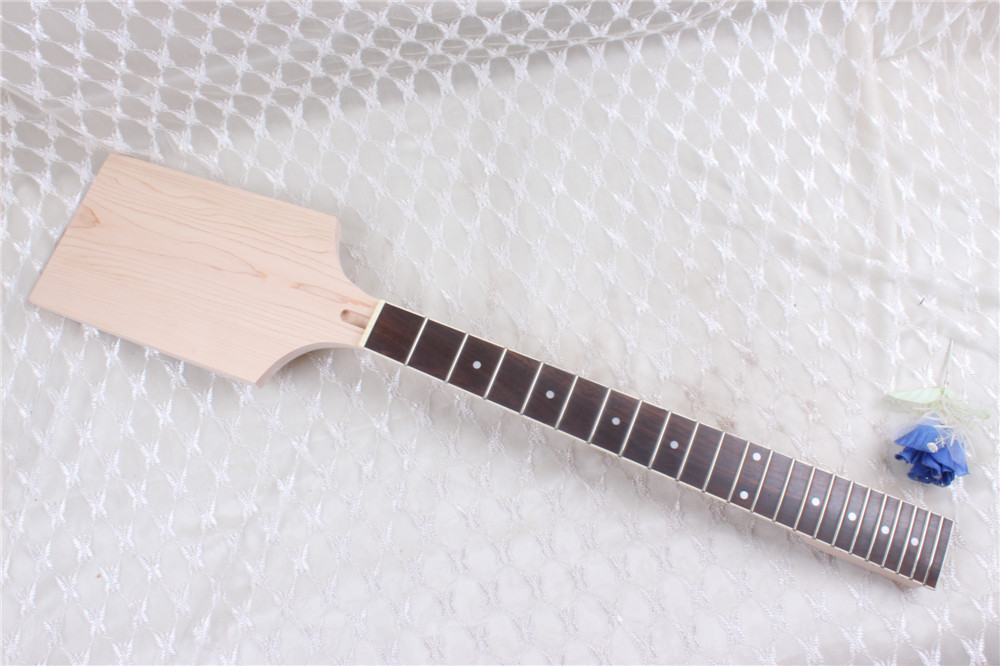 7313#New one black 22 fret white Good Unfinished electric guitar neck mahogany made and rosewood fingerboard black color 24 frets holt on one electric guitar neck mahogany wood and rosewood fingerboard 171