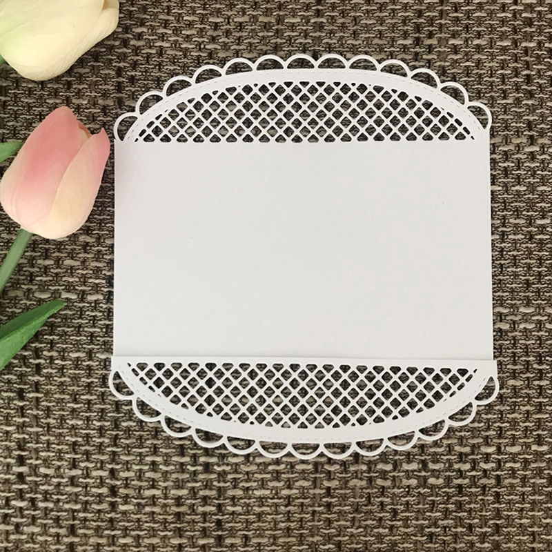 New 2019 Stencils Hollow Circle Border Scrapbooking Dies Metal Stamps Craft Die Cut Gift Box Stencils Embossing Background