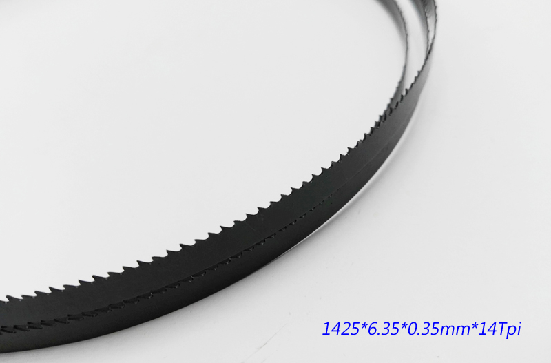 "Image 5 - Free Shipping 2 Pieces 8"" Band Saw Blades 6.35*0.35*1425mm*14 Teeth Wood Band Saw Blades Cutting Curve 1425*6.35*0.35mm*6 Teeth-in Saw Blades from Tools"