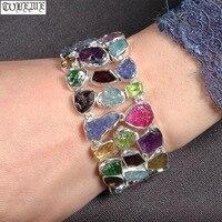 Ручной работы непальская 100% 925 Серебряный браслет цепочка Винтаж 925 пробы ценится женский браслет Богемия очаровательный браслет