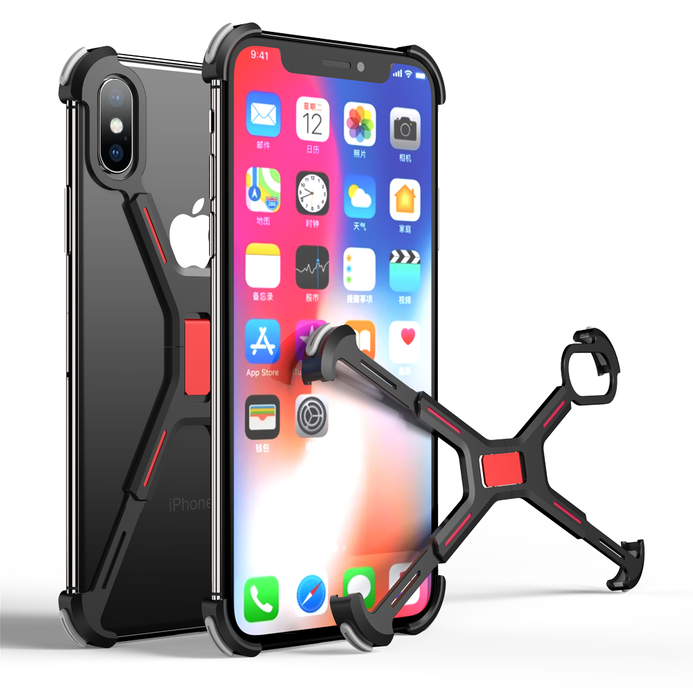 Luxury X Shape Metal Phone Case For Iphone XS X XR XS MAX Back Cover For Iphone XS Max XS Shockproof Shell Bumper Case