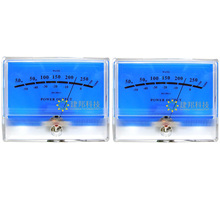 2pcs One Pair DB Level Header Audio power Amplifier VU meter Classic McIntosh figure Lake blue