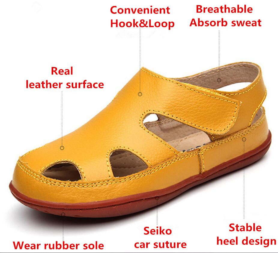 Children's leather sandals-17