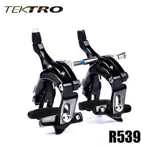 Image 1 - TEKTRO Road Bike R539 C 브레이크 캘리퍼스 경량 롱 암 브레이크, 퀵 릴리스 안전 잠금 장치가있는 빅 타이어 용으로 설계된 320 그램/짝