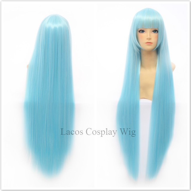 Most Beautiful Cheap Wigs Anime Kuroko no Basuke Kuroko Tetsuya Long Light  Blue Layered Women Boy Cosplay Wigs 3bf4ebd0a
