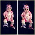 2017 nueva Primavera Otoño de Algodón Recién Nacido Bebé traje de overol Ropa de bebes Ropa Interior de manga larga Bebé Niños Niñas mono JP-107