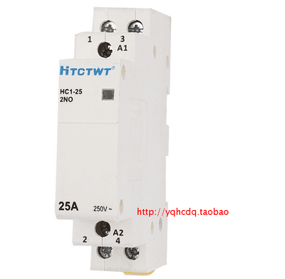 HC1-25 25A Household Home 2 Poles AC Power Contactor 220/240V Coil Voltage 25A 2 Pole Universal Circuit Control AC Contactor ct 2p 25a no nc ac220v home ac contactor often open ct1 25 25a lyn brand