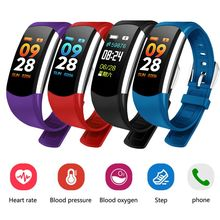 C4 Sensible bracelet Coloration Display Blood Stress Sensible Bracelet Health Tracker Coronary heart Price Waterproof Sport Bluetooth pk mi band