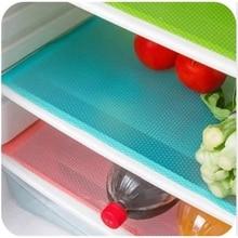 4pcs/set Refrigerator Cabinet Pad Antibacterial Antifouling Mildew Moisture Tailorable Pad Refrigerator Mats Fridge Waterproof