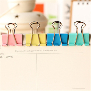 DL Office stationery 25mm long tail bill, swallow tail clip, color barrel, long tail , Yiwu wholesale Exquisite office supplies image