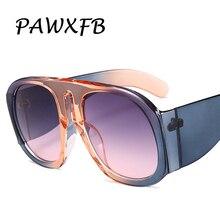 PAWXFB 2018 Big Frame Italy Brand Designer Oval Sunglasses Women Retro Famous Oversized Sun Glasses Eyewear Gafas de sol Shades