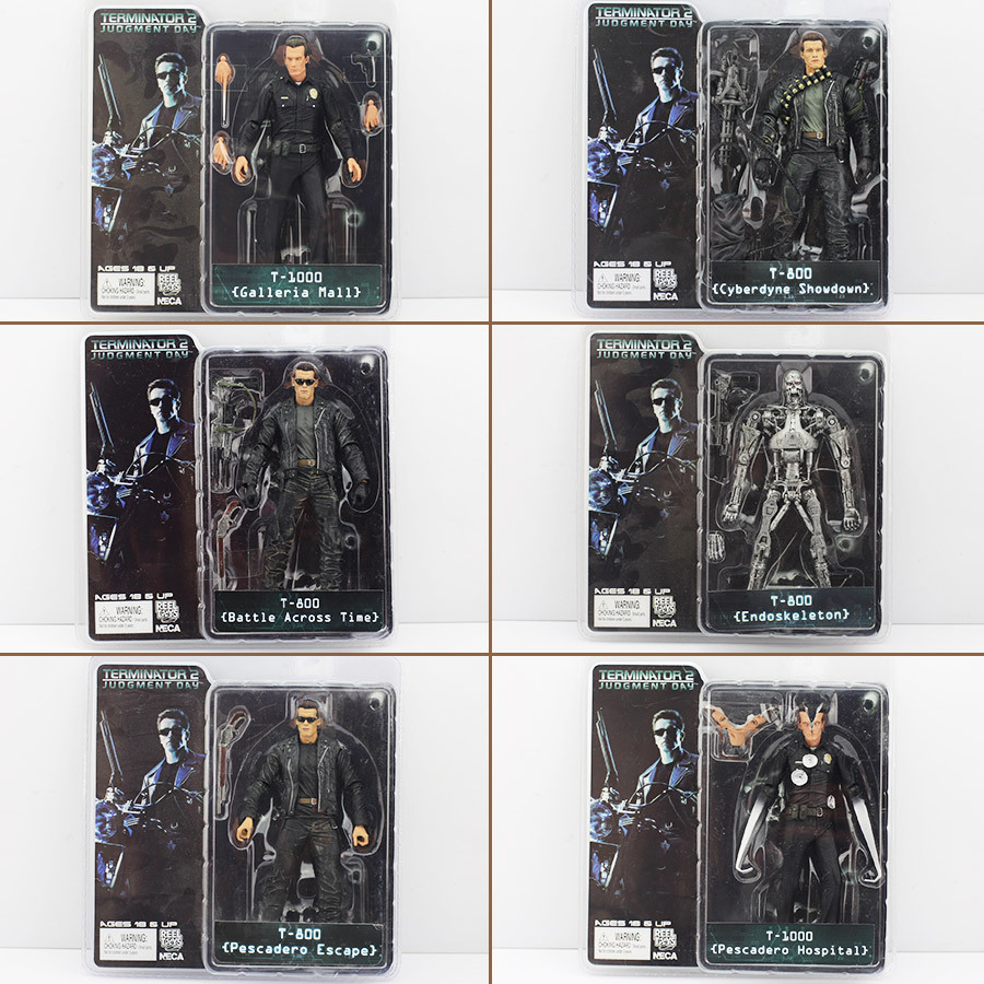 The Terminator 18cm 6 Styles NECA The Terminator 2 Action Figure T-800 ENDOSKELETON Figure toy