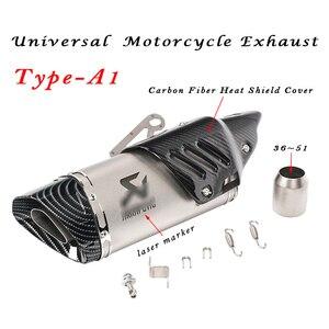 Image 2 - 36 мм ~ 51 мм Универсальная модификация выхлопной трубы мотоцикла Escape Модифицированная выхлопная труба для мотокросса R1 R6 R3 Z900 KTM390 K8 CBR